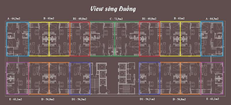 thiết kế căn hộ chung cư aqh riverside